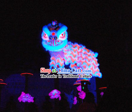 Chinese Classic Luminous Lion Dance Costume Complete Set
