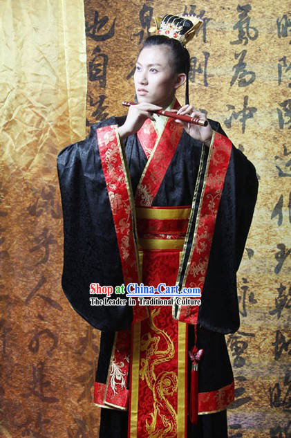 Ancient Chinese Prince Costume and Crown Complete Set