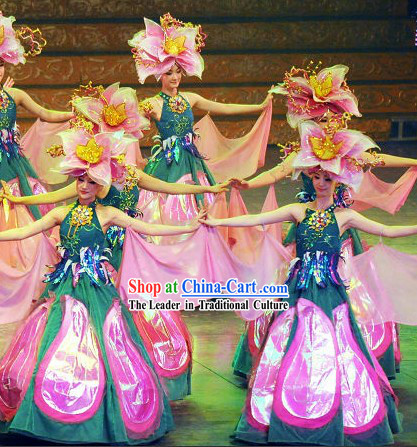 Smile Flower Dance Costumes And Hat