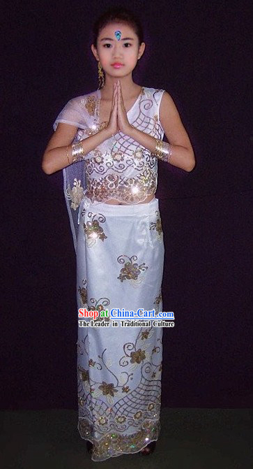 Traditional Thailand Costumes Set for Women