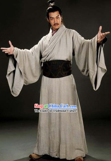 Ancient Chinese Traditional Dress Male Three Kingdoms Lv Bu Costumes Complete Set for Men