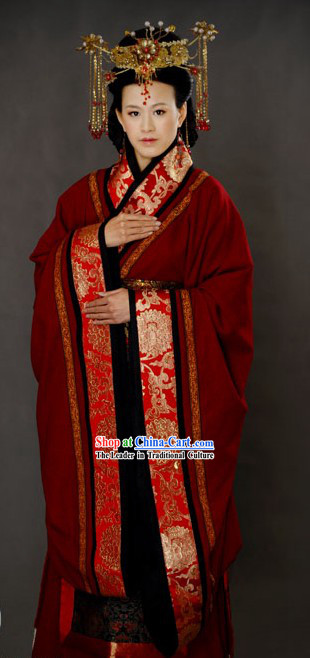 a140bc82a3765 Ancient Chinese Wedding Clothing and Hat for Brides