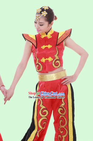 Traditional Chinese Drum Player Suit for Women