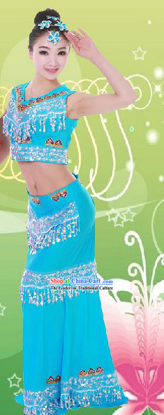 Traditional Fish Dance Costume And Headwear For Women