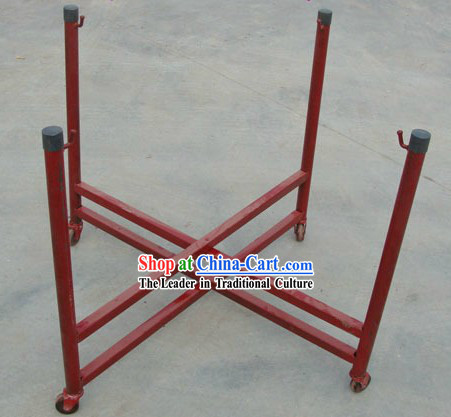 Traditional Handmade Wooden Drum Cart with Wheels _suitable for the drum diameter of 18