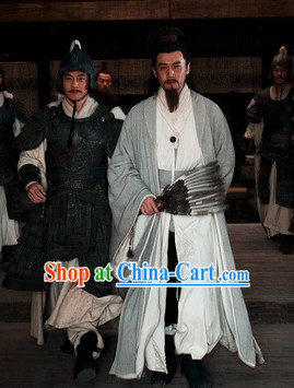 Traditional Chinese Three Kingdoms Legend Zhuge Liang Costume Complete Set for Men