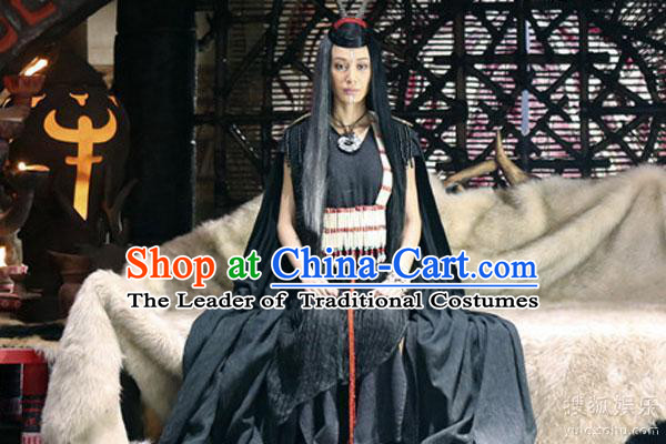 Ancient Chinese Style Costumes Xia Dynasty Priest Religion Costume Complete Set