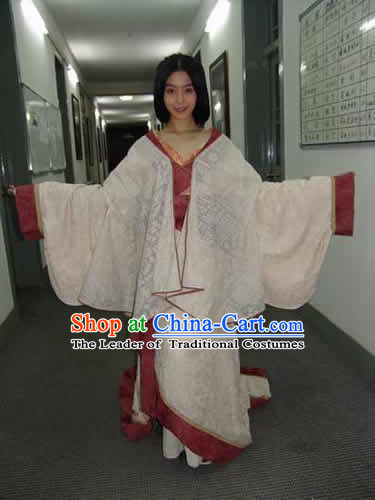 Chinese Eastern Zhou Dynasty Imperial Queen Princess Clothing Costume Complete Set