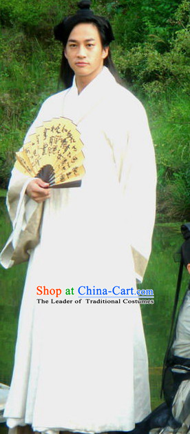 Chinese Costume Chinese Costumes National Garment Outfit Clothing Clothes Ancient Jin Dynasty Men Dresses