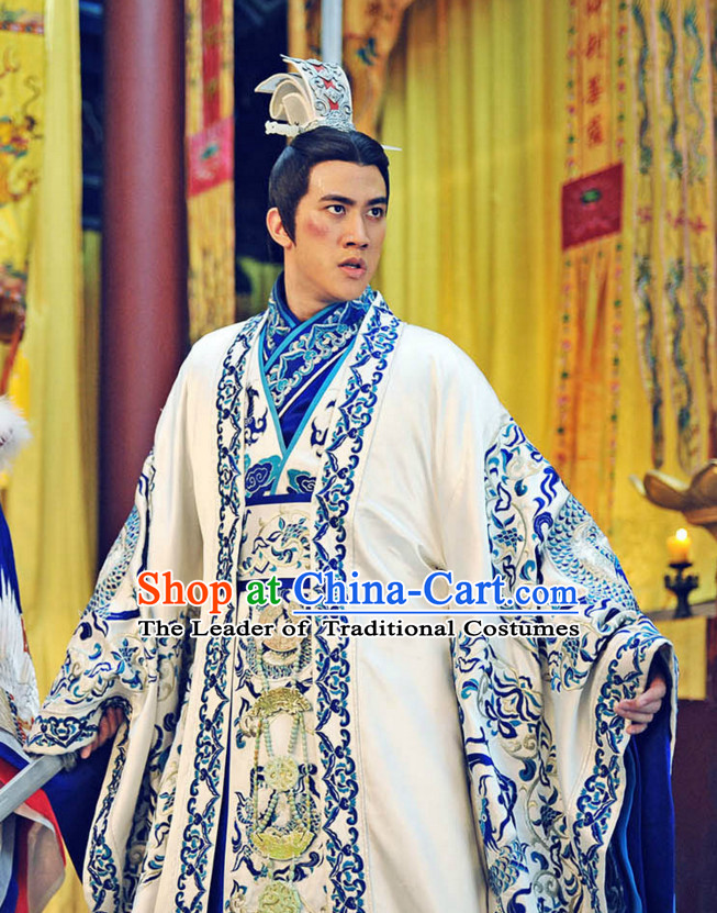 Tang Dynasty Chinese Costumes Prince Suit Garment Outfits Clothing Costumes Costume Complete Set for Men