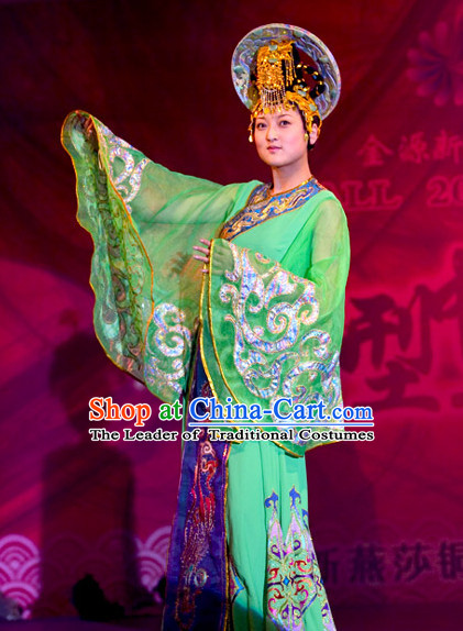 Tang Dynasty Chinese Dance Costumes Opera Costume and Hair Accessories Complete Set for Women
