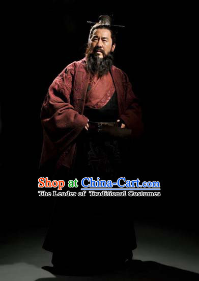 Ancient Chinese Costume Three Kingdoms Costumes Cao Cao Outfits Clothing for Men