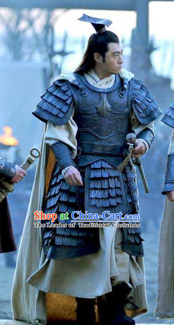Three Kingdoms Chinese General Sun Jian Costume Costumes Clothing Clothes Garment Outfits Suits for Men