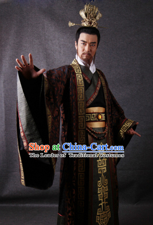 Three Kingdoms Chinese Emperor Wei Wendi Costume Costumes Clothing Clothes Garment Outfits Suits for Men