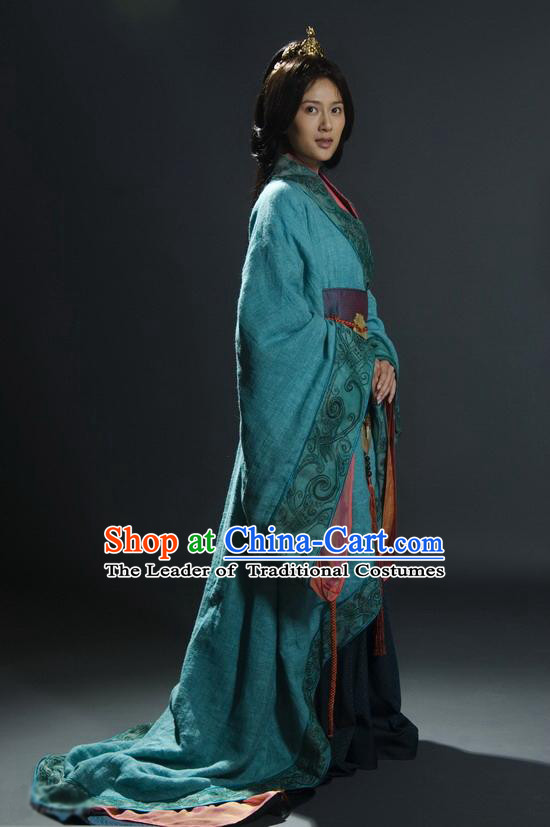 Chinese Han Dynasty Princess Clothing Costumes Dresses Clothing Clothes Garment Outfits Suits Complete Set for Women