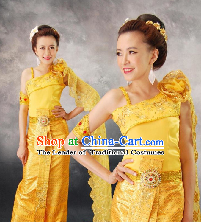 Thailand Fashion Thailand Customs Traditional Clothing Classic Dress Wedding Guest Ceremonial Clothing