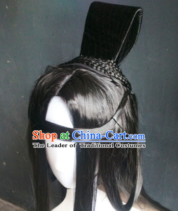 Ancient Chinese Male Wigs Toupee Wigs Human Hair Wig Hair Extensions Sisters Weave Cosplay Wigs Lace