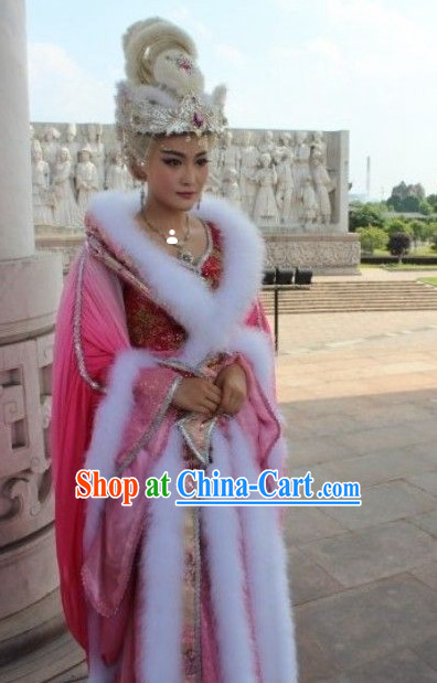 Ancient Chinese Shang Dynasty Costume Fox Spirit Movies Costumes and Hair Accessories