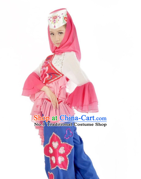 Custom Made Chinese Ethnic Dance Costumes Ballerina Costume Burlesque Costumes Salsa Costumes