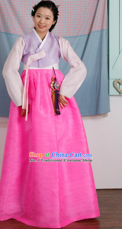 Top Korean Hanbok Birthday Ceremonial Dress Complete Set for Women