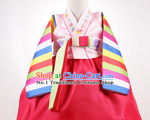 Top Korean Kids Birthday Hanbok Ceremonial Dresses