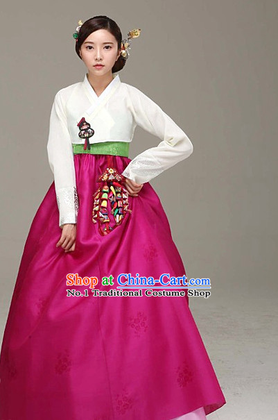 Top Korean Ladies Birthday Hanbok Ceremonial Dresses