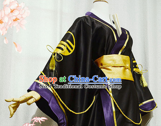 Chinese Costumes Traditional Clothing China Shop Asian Warrior Black Cosplay Costumes