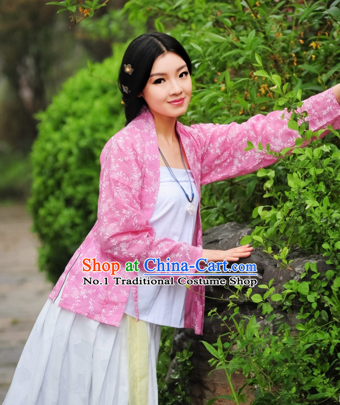 Asian Fashion Oriental Dresses Chinese Hanfu Plus Size Classy Clothing Complete Set