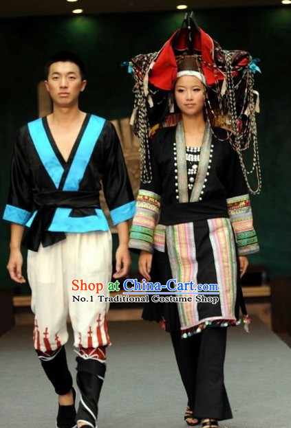 Oriental Clothing Chinese Traditional Ethnic Plus Size Clothing for Men and Women