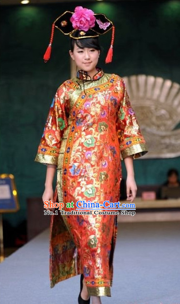 Oriental Clothing Chinese Traditional Manchu Ethnic Plus Size Clothes online for Women