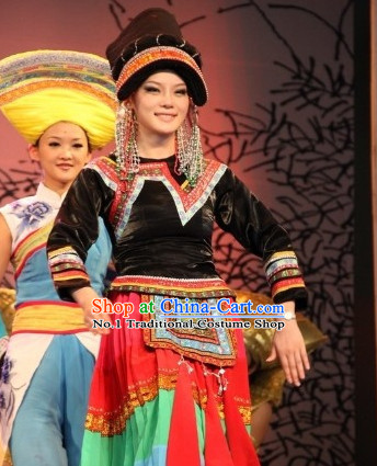 Oriental Clothing Chinese Ethnic Dance Costumes and Headdresses Cheap Dance Costumes online