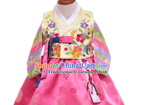 Traditional Korean Custom Made Children Birthday Ceremonial Hanbok Complete Set