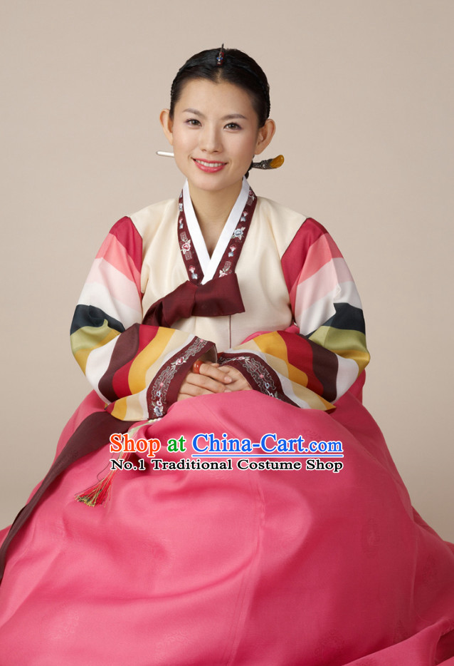 Korean Woman National Costumes Traditional Costumes Hanbok Korea Dress online Shopping