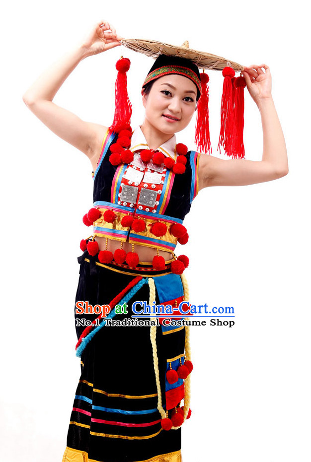 Chinese Costumes Ethnic Dance Costume Complete Set for Women