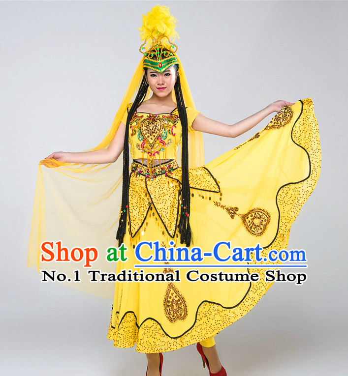 Chinese Xinjiang Competition Dance Costumes for Women