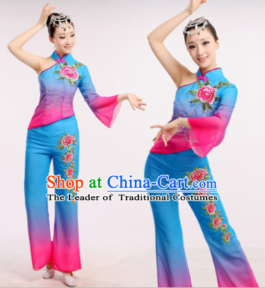 6d62677e88900 Chinese Fan Dance Costume Dancewear Discount Dane Supply Clubwear Dance  Wear China Wholesale Dance Clothes for