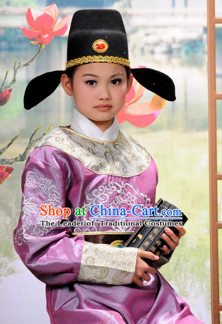 Chinese Tang Poet Halloween Costumes for Kids Baby Hanfu Clothes Toddler Halloween Costume Kids Clothing and Hair Accessories Complete Set for Kids