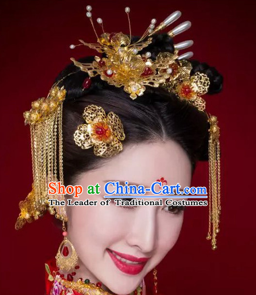 2951f37586e Traditional Chinese Princess Empress Queen Brides Wedding Headpieces Hair  Fascinators Jewelry Decorations Hairpins Phoenix Crown