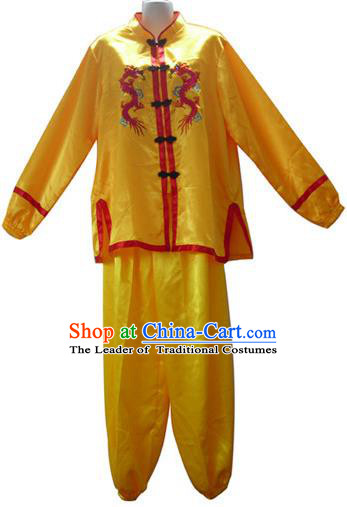 Traditional Chinese Dragon Dance Costume, Folk Lion Dance Costume For Men
