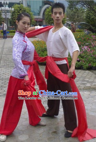 Chinese Classical Drum Player Costumes for Men and Women