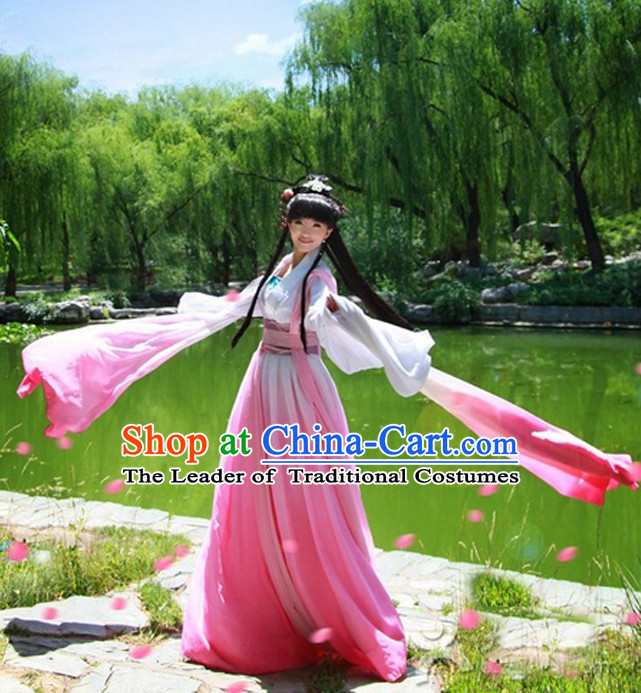 Chinese Classical Water Sleeves Long Sleeves Dance Costume for Women or Girls
