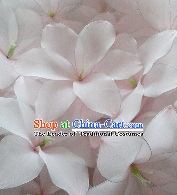 White Traditional Chinese Stage Performance Lily Flower Dance Props Dancing Prop