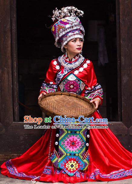Chinese Costumes Female Ethnic Groups Clothing