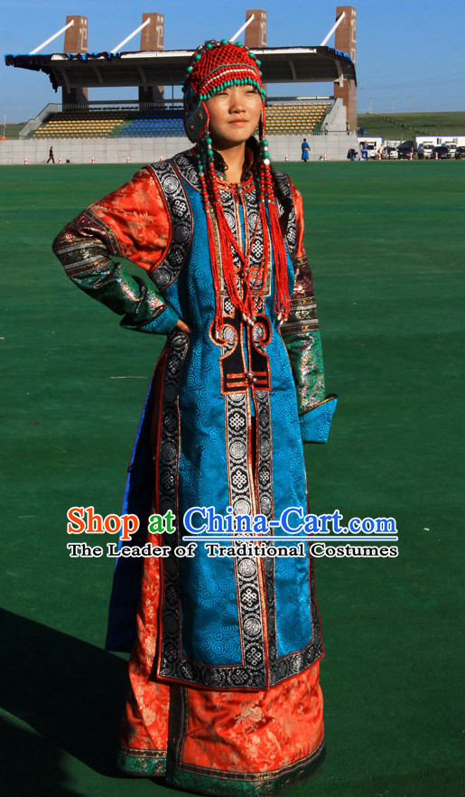 Ancient Mongolian Clothing Traditional Mongolian Clothing Folk Princess Garment for Women