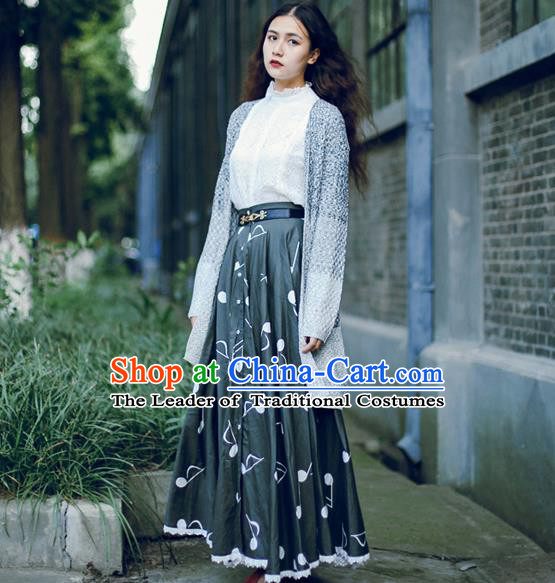 Traditional Classic Women Clothing, Traditional Classic Long Expansion Skirt for Women
