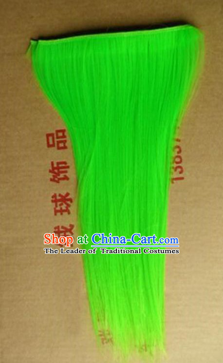 Lion Dance Accessory Dragon Dance Falsie Artificial Whiskers for Peking Opera Green