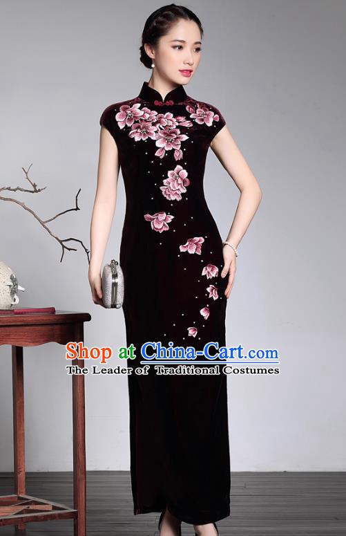 All Embroidered Qipao Dress Cheongsam