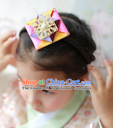 Traditional Korean Hair Accessories Girls Hair Clasp, Asian Korean Fashion Headwear Headband for Kids
