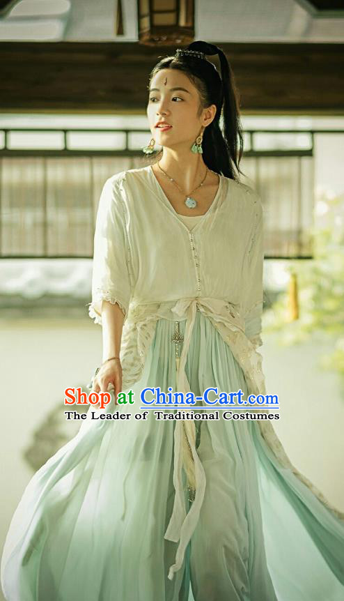 Traditional Chinese Southern and Northern Dynasties Palace Lady Clothing, Asian China Ancient Princess Costume for Women