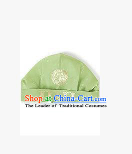 Traditional Korean Hair Accessories Embroidered Green Hats, Asian Korean Fashion National Boys Headwear for Kids